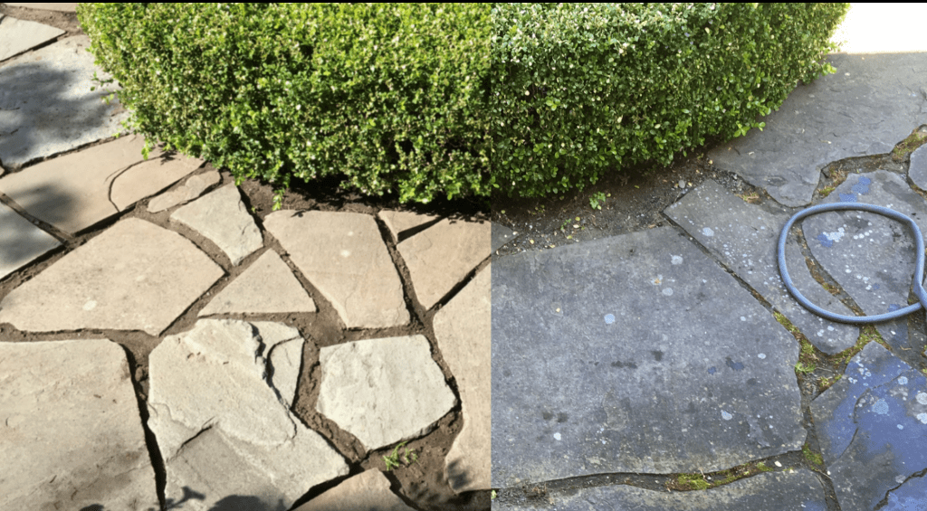 Stones before and after washing